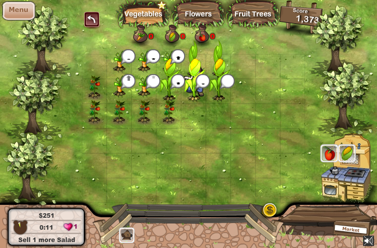 Garden rush facebook time management game beno t for Garden design game